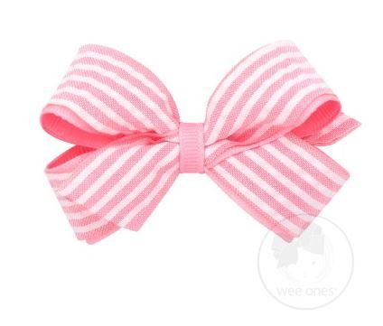 SMALL SEERSUCKER BOW - PINK - Made by McNamara