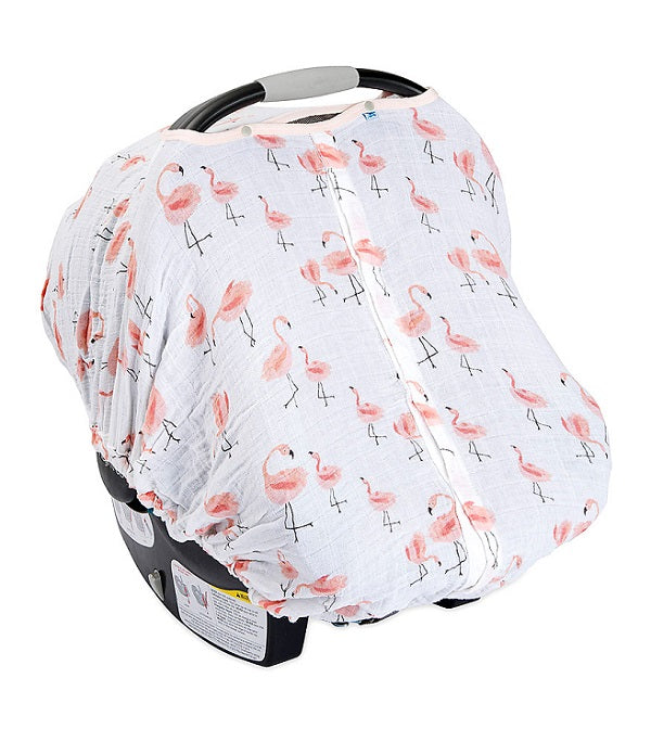 COTTON MUSLIN CAR SEAT CANOPY - PINK LADIES - Made by McNamara