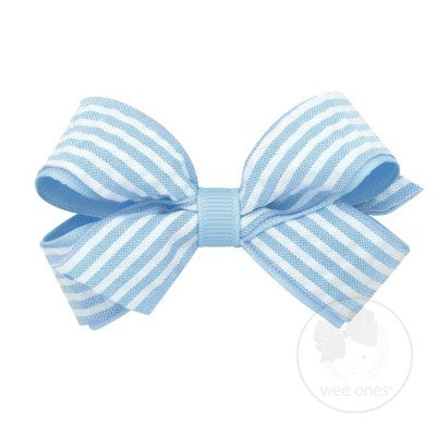 SMALL SEERSUCKER BOW - BLUE - Made by McNamara