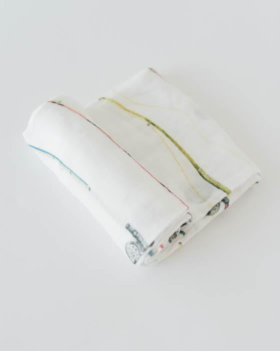 DELUXE MUSLIN SWADDLE - ROD AND REEL - Made by McNamara
