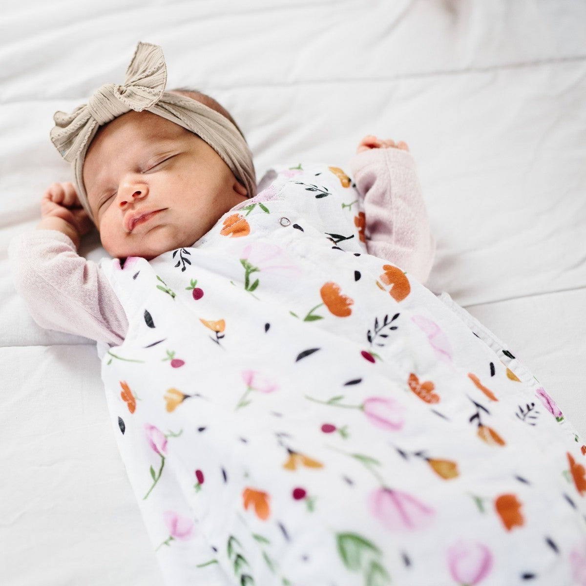 COTTON MUSLIN SLEEP SACK - BERRY AND BLOOM - Made by McNamara