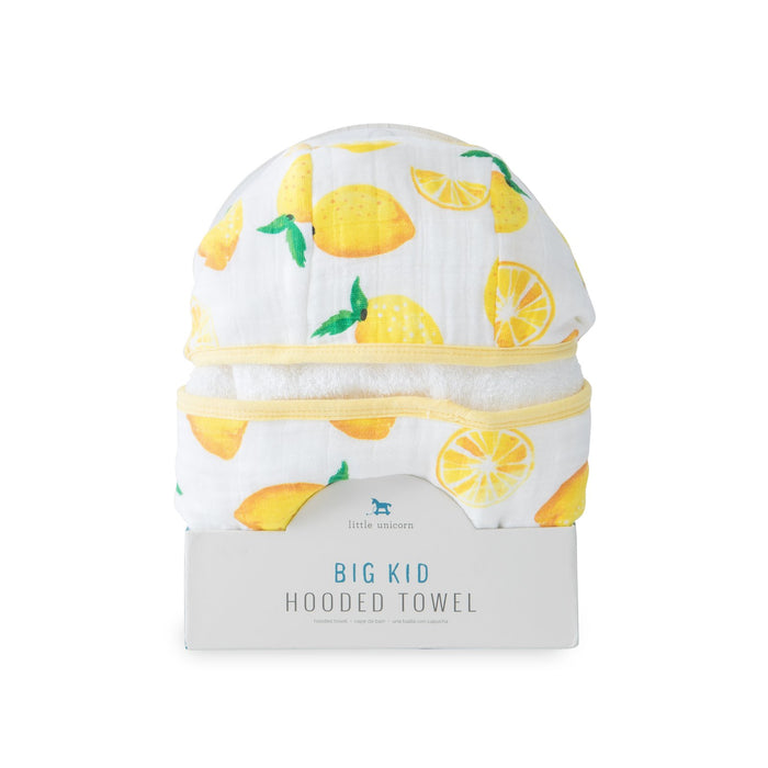 BIG KID HOODED TOWEL - LEMON - Made by McNamara