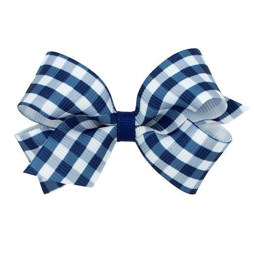 SMALL GINGHAM BOW - NAVY - Made by McNamara