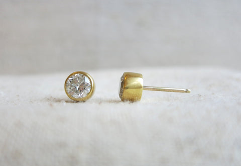 Diamond Solitaire Studs