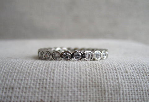 Small Bezel Eternity Band | White Diamond