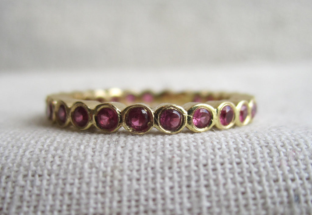 Small Bezel Eternity Band | Ruby