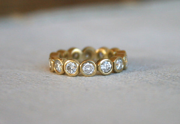 Large Bezel Eternity Band | Diamond