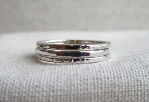 Hammered Stack Rings