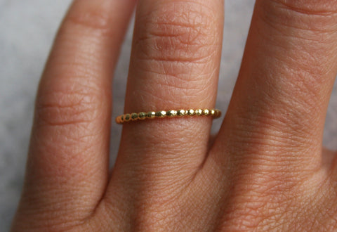 Thin Beaded Band