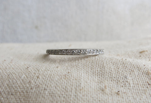 Pave White Diamond Eternity Band
