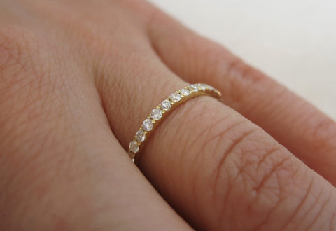 Floating White Diamond Eternity Band