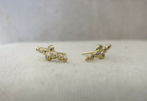 Eight Droplet Diamond Studs