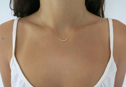 Eleven Droplet Diamond Necklace