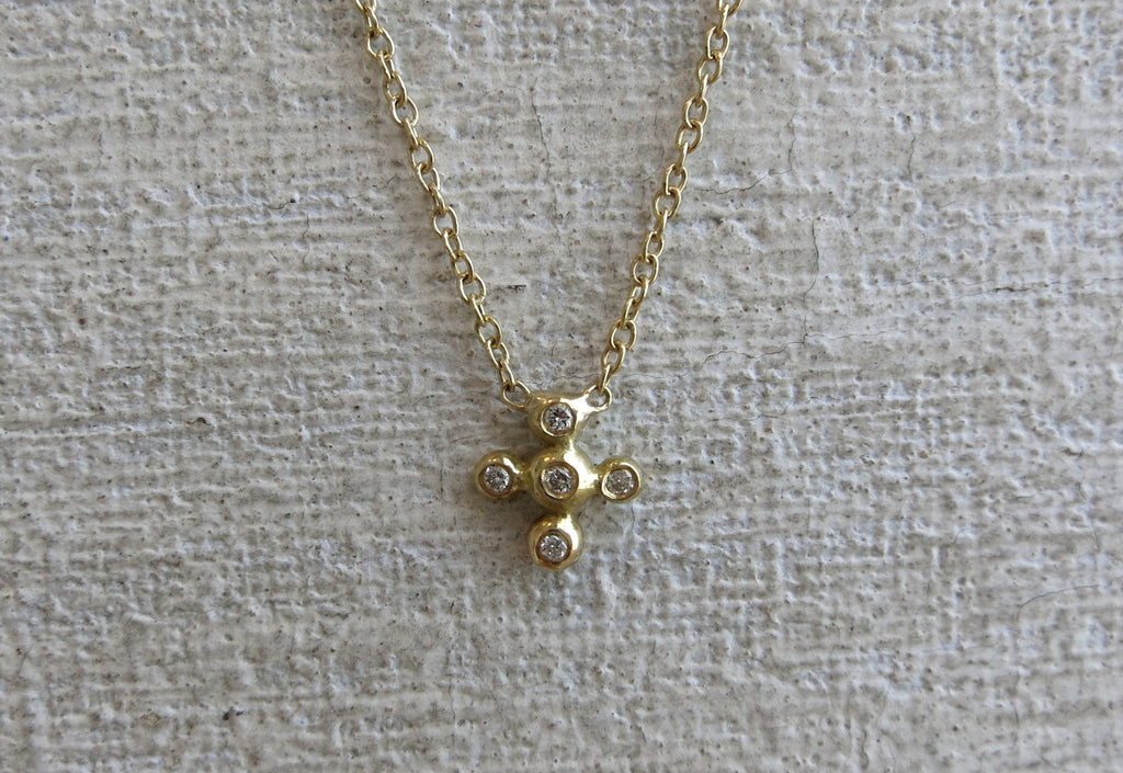 Five Droplet Diamond Necklace