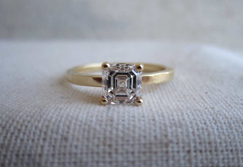 Radiant Cut Diamond Prong Ring
