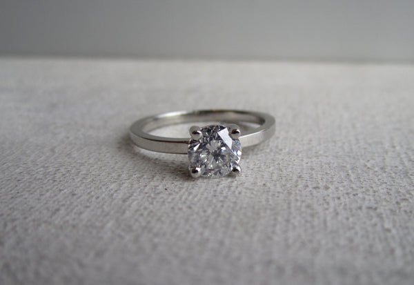 Round Diamond Prong Ring