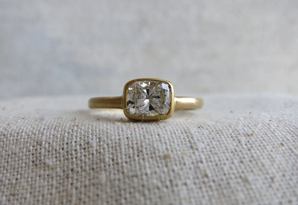 Cushion Cut Diamond Ring | .80ct
