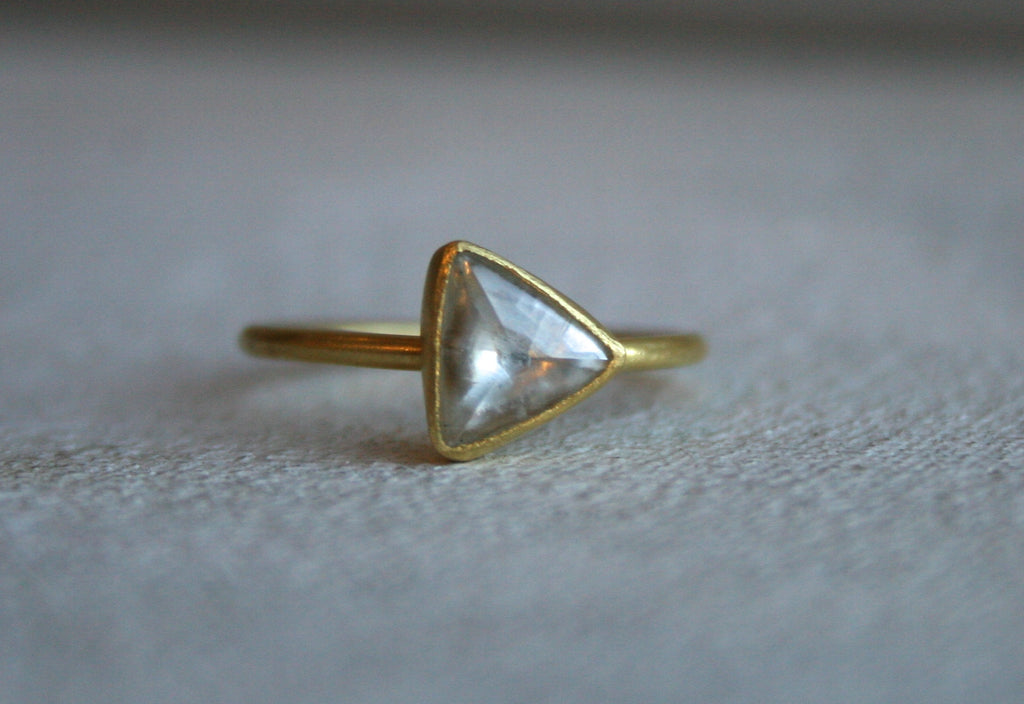 Triangular Rough Diamond Ring