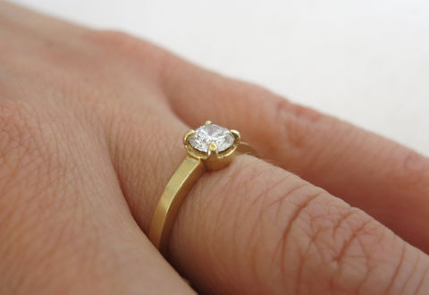 Small Diamond Prong Ring