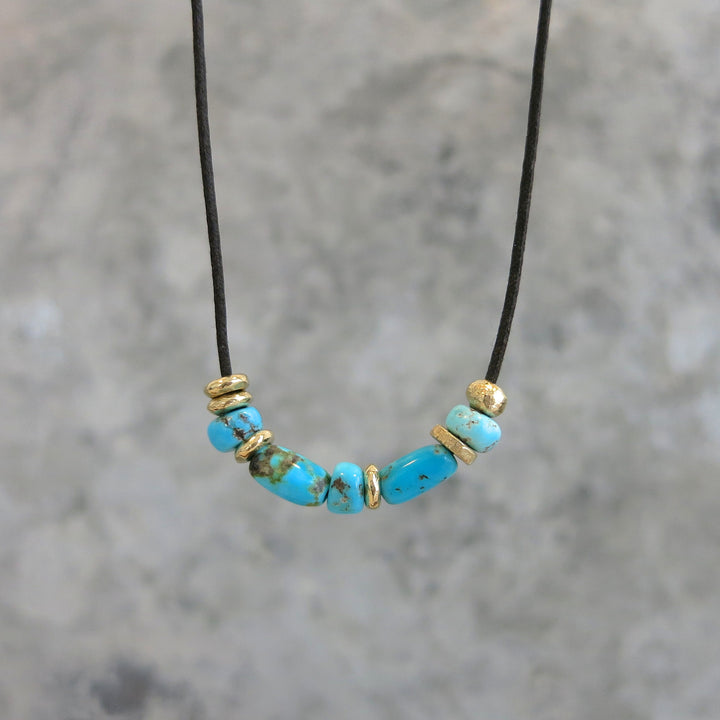 Turquoise Jasper Necklace | Gold