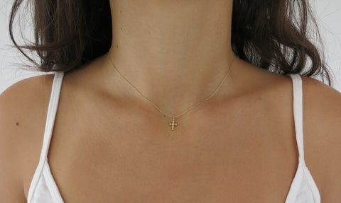 Seven Droplet Diamond Necklace