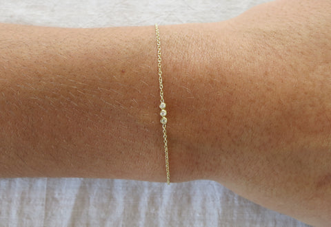 Three Droplet Diamond Bracelet