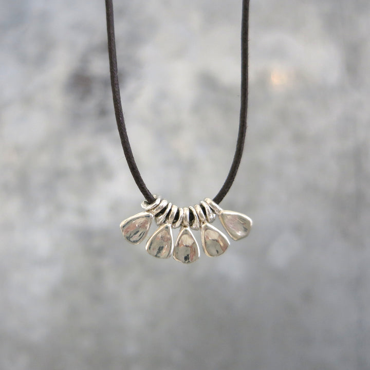 Hawk Necklace | Silver Five Petals