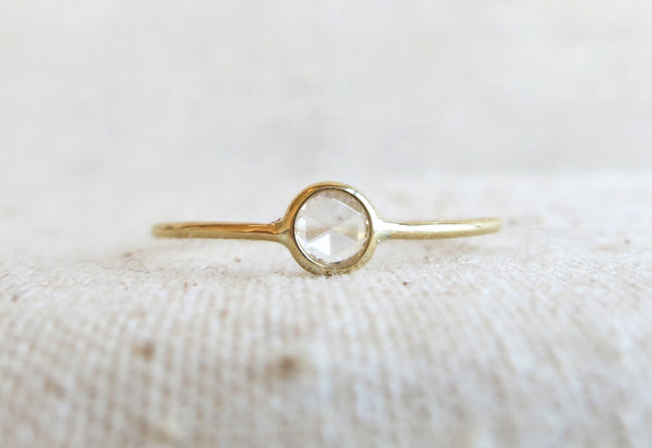 Mini Rose Cut Diamond Ring