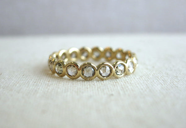 Champagne Rose Cut Diamond Eternity Band