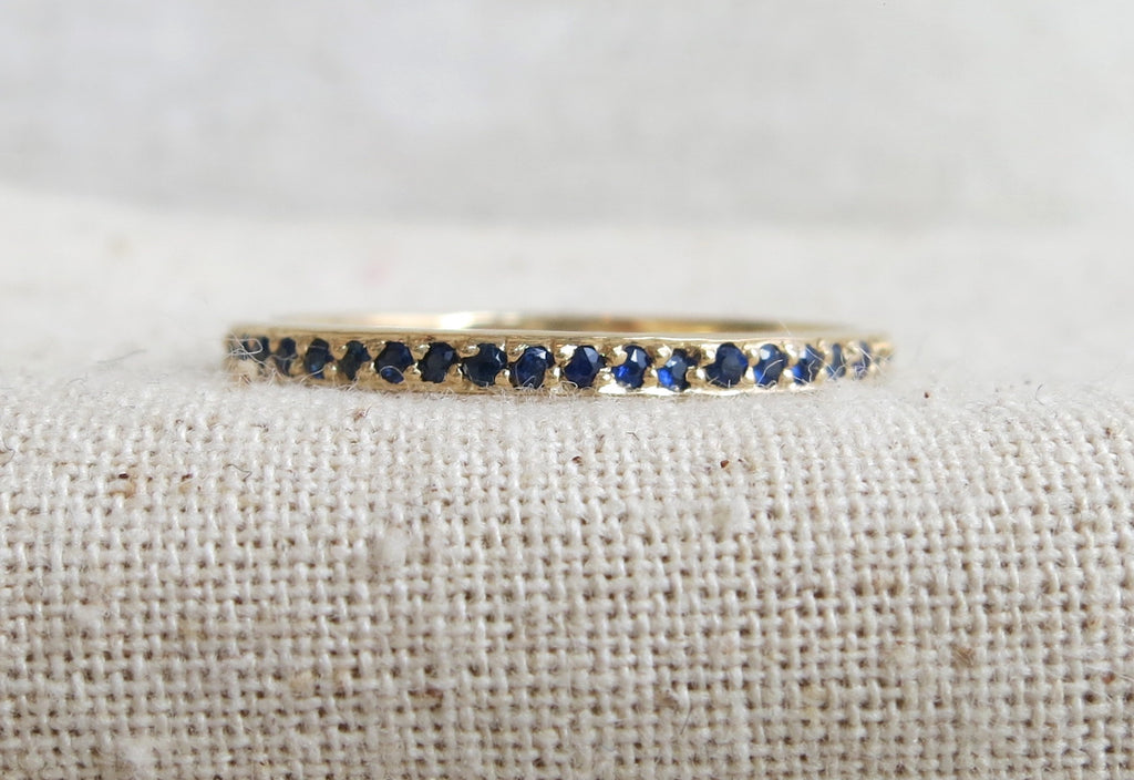 Pave Sapphire Eternity Band
