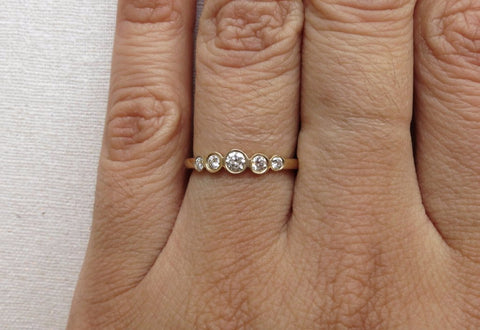 Tapered Five Diamond Ring
