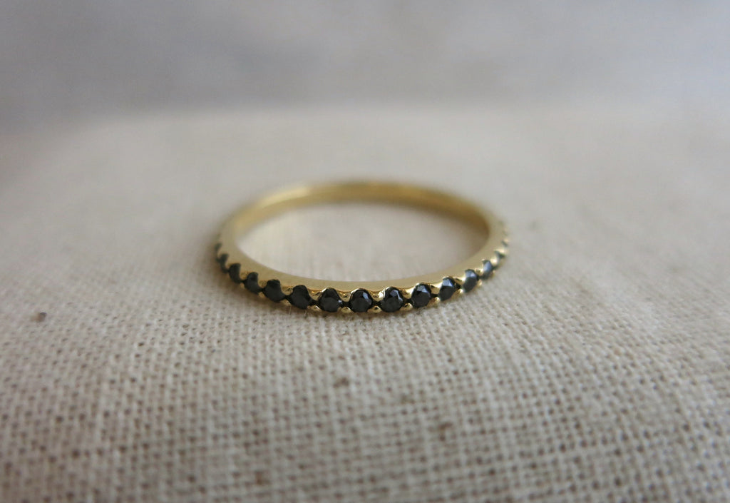 eternity band bands black diamond blk gold