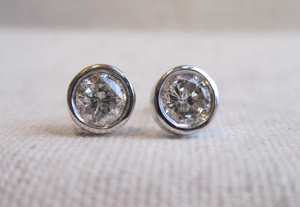 White Gold Diamond Studs | 0.15ct