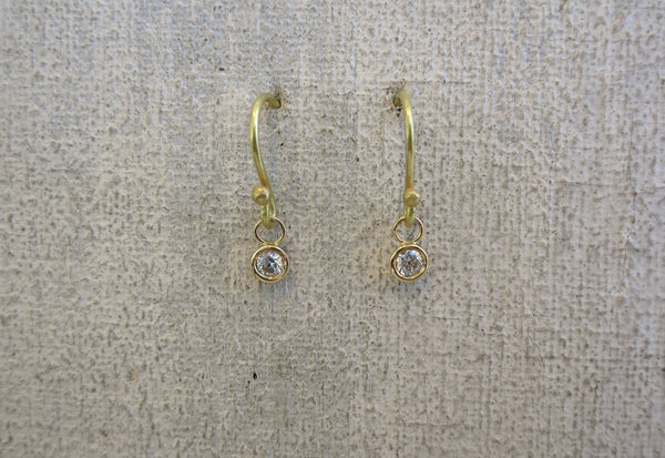 Solitaire Diamond Drop Earring