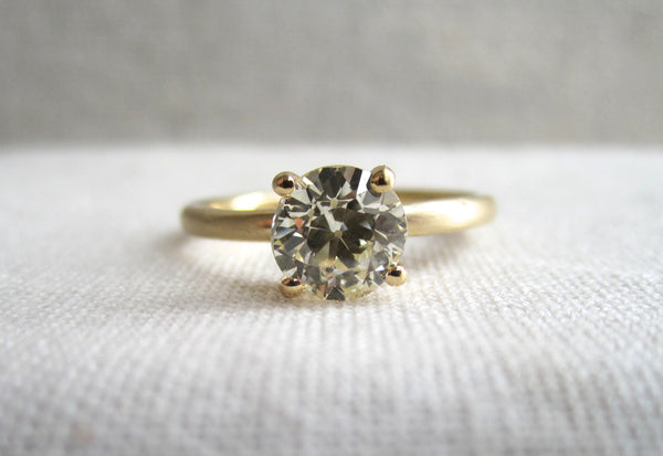 Round Diamond Prong Ring | .70ct