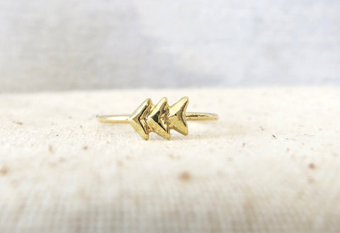 Mini Arrow Gold Ring