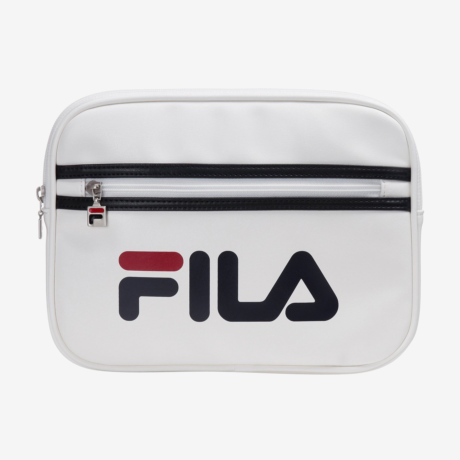 FILA Linear Logo Clutch Bag [WHITE]