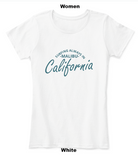 surfing always malibu women white t shirt