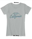 surfing always malibu women dk grey t shirt