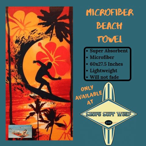 Super absorbent microfiber beach towel | shoresurfwear.com