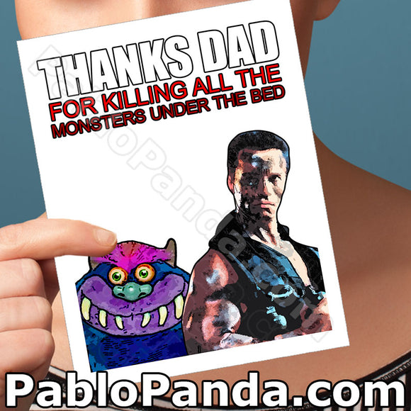 Thanks Dad For Killing All The Monsters Under The Bed - Social Shambles