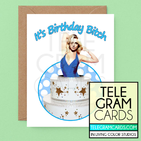 Britney Spears [ILCS-001A-HBD] It's Birthday Bitch - SocialShambles.com