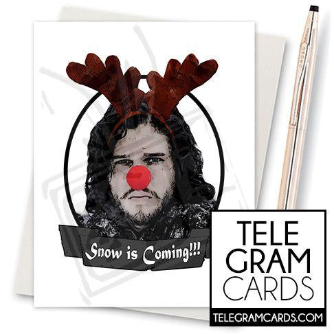 Game of Thrones (Jon Snow) - 001h - [ILCS][XMS] - Snow is Coming (Rudolph) - SocialShambles.com