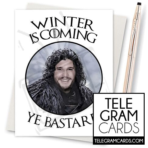 Game of Thrones (Jon Snow) - 002b - [ILCS][XMS] Winter is Coimg Ye Bastard - SocialShambles.com