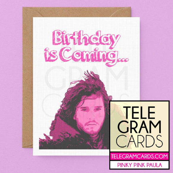 Game of Thrones (Jon Snow) [PPP-001P-HBD] Birthday is Coming - SocialShambles.com