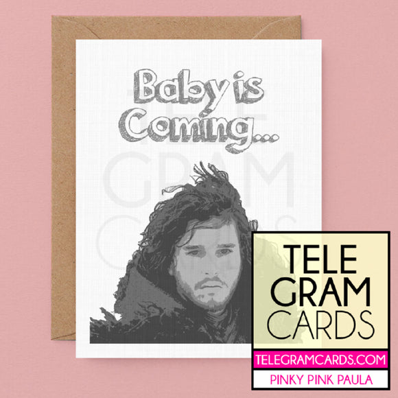 Game of Thrones (Jon Snow) [PPP-002B-BBY] Baby is Coming - SocialShambles.com