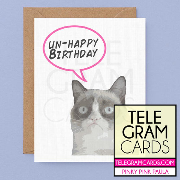 Grumpy Cat [PPP-001MA-HBD] Un-Happy Birthday - SocialShambles.com