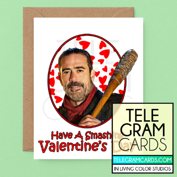 The Walking Dead (Negan) [ILCS-001A-VAL] Have A Smashing Valentine's Day - SocialShambles.com