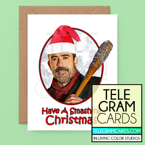 The Walking Dead (Negan) [ILCS-001B-XMS] Have A Smashing Christmas - SocialShambles.com