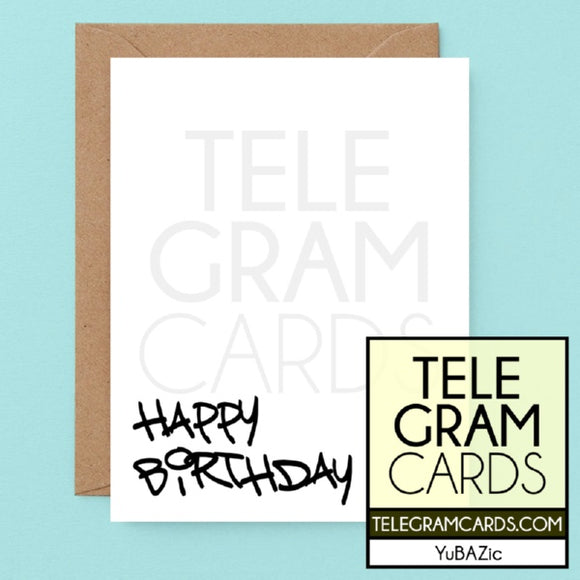 YuBAZic Cards [YBZ-001A-HBD] Happy Birthday - SocialShambles.com